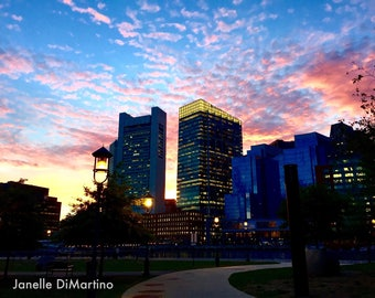 Sunset in the City | Boston, MA - FREE SHIPPING!