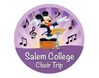 Personalized School Choir Trip Button - Disney Choir Button - Theme Park Pin - Disney Park Badge - Choir Pin - School Disney Trip Pin