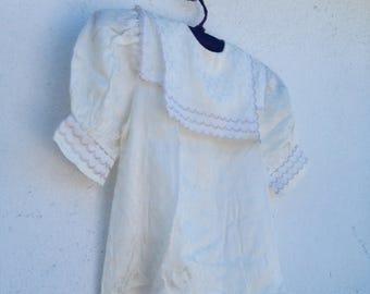 Girl's Sailor Shirt 80's Vintage, Pearl Beige