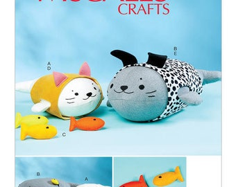 Leisure sewing pattern McCall M7669 plush toy creative ' S