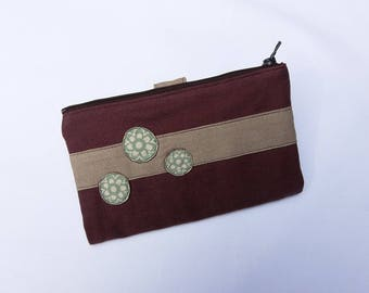Wallet, checkbook Brown and beige