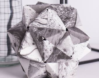 How Utterly Marbleous! | Marble | Modular Origami | Paper Sculpture | Engagement Gift | Housewarming Gift | Centerpiece | Nursery Decor