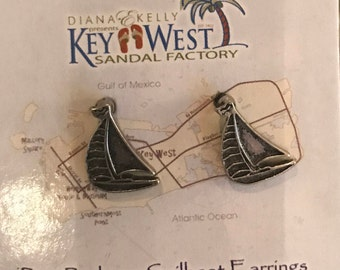 Port Rodgers Key West Collection- Diana E. Kelly Chic Designer, Sailboat Earings