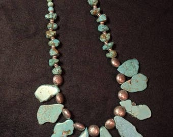Southwest Turquoise Beaded Necklace