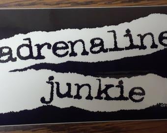 Adrenalie Junkie Stickers
