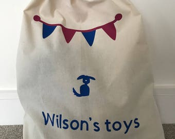 Dog toy sack, Pet storage,Toy storage, Doy toy bin, Pet toy organiser, Toy bag