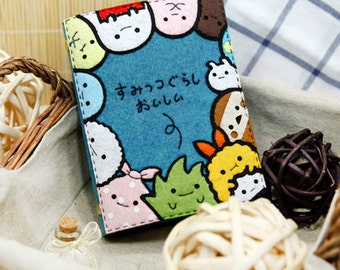 DIY Kit Cute Little Creatures Notebook / Agenda / Journal (Text Could be personalized)