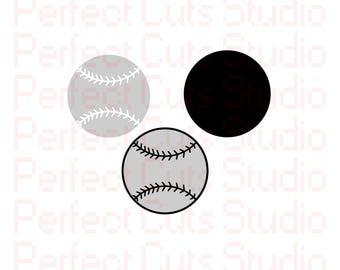 Baseball SVG and Studio 3 Cut File Cutouts Cut Files Logo Stencil for Silhouette Cricut Brother SVGs Cutouts Stencils Decals Sports Team