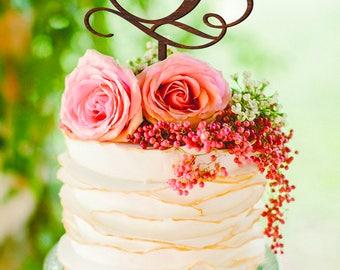 P Letter Cake Topper P Wood Monogram Wedding Cake Topper initials Wedding Cake Topper Gold Cake Topper Custom Wedding Cake Topper Letter P K