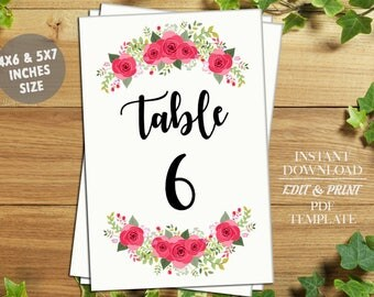 INSTANT DOWNLOAD-Wedding Table Numbers,Printable Table Numbers,Table Numbers,Table Numbers Wedding,PDF Instant Download