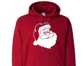 Christmas Santa Claus Unisex Hooded Hoodie Sweatshirt Sweater Christmas Party Christmas Gift Crewneck Custom Family Reunion