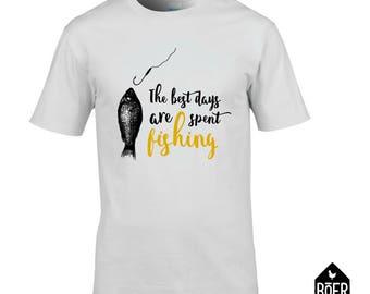 Fishing, T-shirt, white, size S, M, L, XL