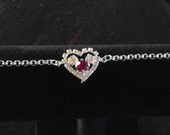 Heart Rhinestone Bracelet