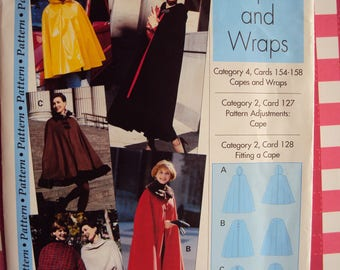 Capes & wraps pattern -from IMP- Sewing Step-By-Step - sizes XS-XL (4-22) uncut