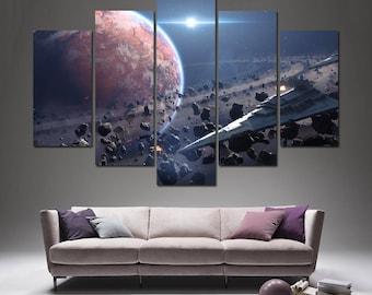 Star Wars Canvas Star Wars Empire Strikes Back Star Wars canvas art Star Wars print Star Wars Wall Art Star Wars Poster Star Wars decor