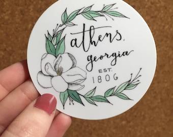 Athens Georgia Magnolia Sticker