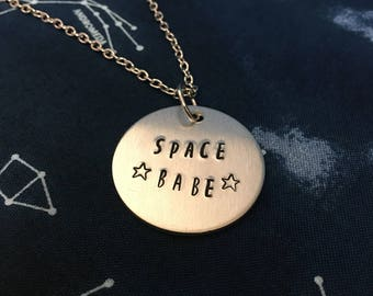 Space Babe Necklace - Space Girl Necklace - Space Babe Jewelry - Star Babe Necklace - Magical Girl Necklace