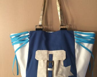 Tote bag large two-tone format
