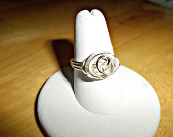 Silver Artistic Wire Wrapped Ring