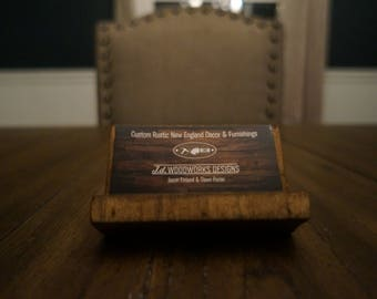 Wooden Business Card Holder - Rustic,Country,office