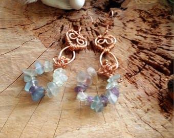 Unique - Boucles d'oreille en cuivre et en fluorite par Angel'S SignS
