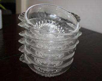 Vintage bowls, dessert  glass cups