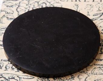 Shungite Tile Circle Stand Polished Unic Karelian EMF protection Reiki Practice Chakra Ballancing