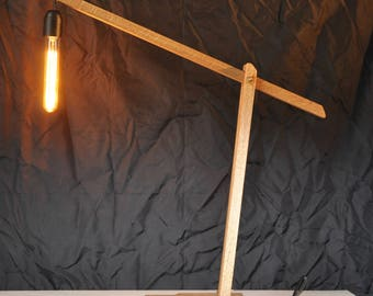 wooden large architect lamp