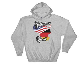 My Birthplace, My Blood - German American Heritage Pride Unisex Hooded Sweatshirt