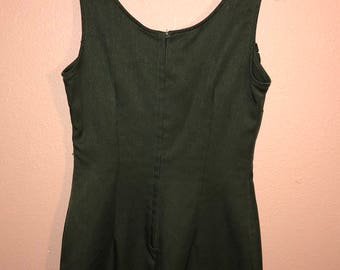 Vintage Olive Green Mini Dress