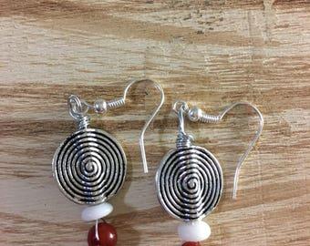 Swirl Fish Hook Earrings