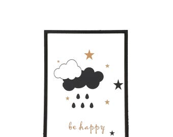 """poster """"be happy"""""""