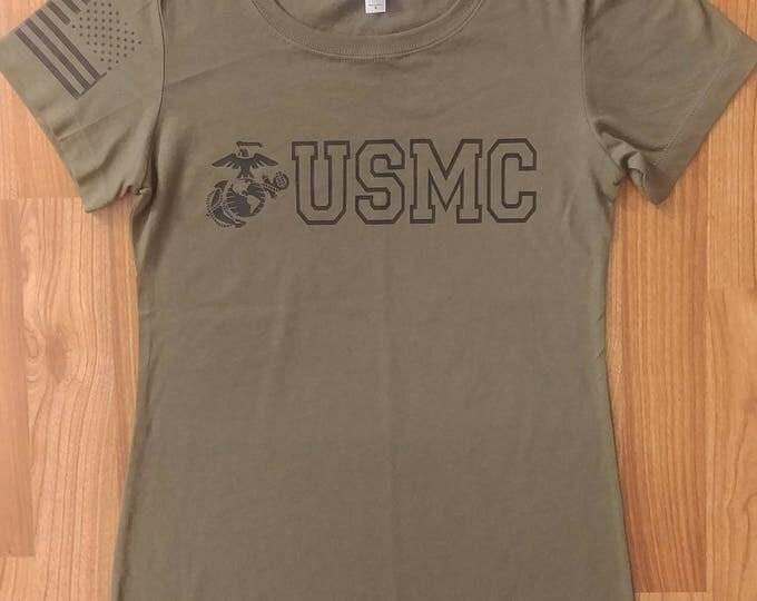 Marines - USMC - Marines Shirt - Womens Shirt - US Marines, Marine Wife, USMC Shirt, Marine Tee, Marine Veteran, T-Shirt - Marine Womens