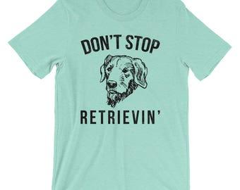 Funny Golden Retriever Shirt, Funny Lab T-shirt, Short-Sleeve Unisex T-Shirt