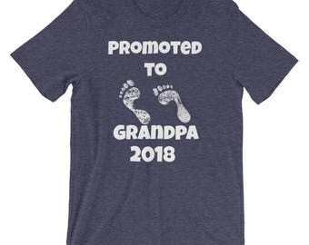 Pregnancy Announcement Promoted to Grandpa 2018 Short-Sleeve Unisex T-Shirt