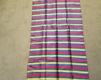 Vintage menswear-style striped silk scarf