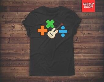 Ed Sheeran Plus X Divide Short-Sleeve Unisex T-Shirt +x÷ Fan album art inspired logos