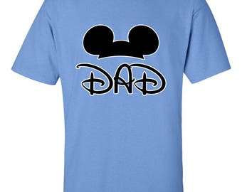 Mickey Mouse Dad Couple Shirts Disney T-Shirts Men Size Unisex Tee Shirts Clothing for Men and Women