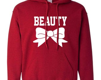 Beauty Printed Adult Hoodie Hooded Sweatshirt for Women