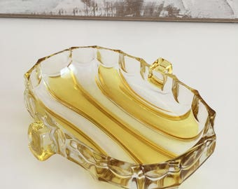 Glass Candy/Nut Dish - Dip nut candy dish - Candy Dish, Nut, Relish - Glass bowl
