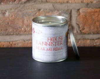 House Lannister Game of Throne scented candle