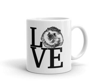 Hedgehog Love Mug by Urchin Wear