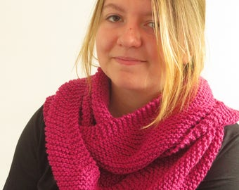 Oblique Snood pink twice