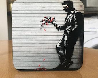 Banksy Coaster #19 - Banksy Gift - Banksy Coaster - Custom Coaster -Gift for Her - Gift For Him - Fridge Magnets - Banksy Magnet - Souvenir