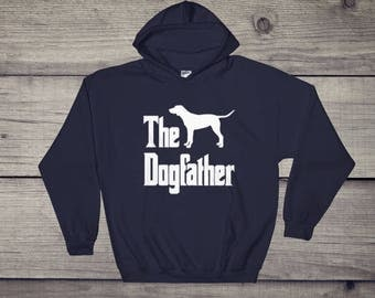 The Dogfather hooded sweatshirt, Dalmatian silhouette, funny dog gift hoodie, The Godfather parody, dog lover sweater, dog gift
