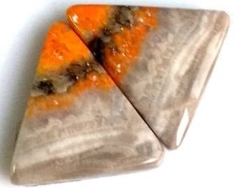 Bumble Bee Jasper Fancy Pair Cabochon Size-22x18 MM Natural Bumble Bee Jasper, AAA,Loose Gemstone, Smooth Cabochons.