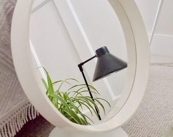 Stunning Original Mid Century Scandi Round Vanity Mirror