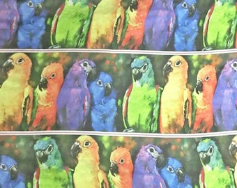 Stunning Rainbow Birds Digital printed 30 D Polyester Poly Silky Chiffon Fabric Material For Dress Cloth Skirt 30D-33005 By The Yard Printed