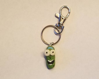 Pickle Rick Keychain