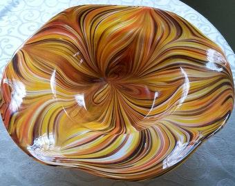 """Mid Century Murano Dino Martens Tutti Frutti Centerpiece 16"""""""